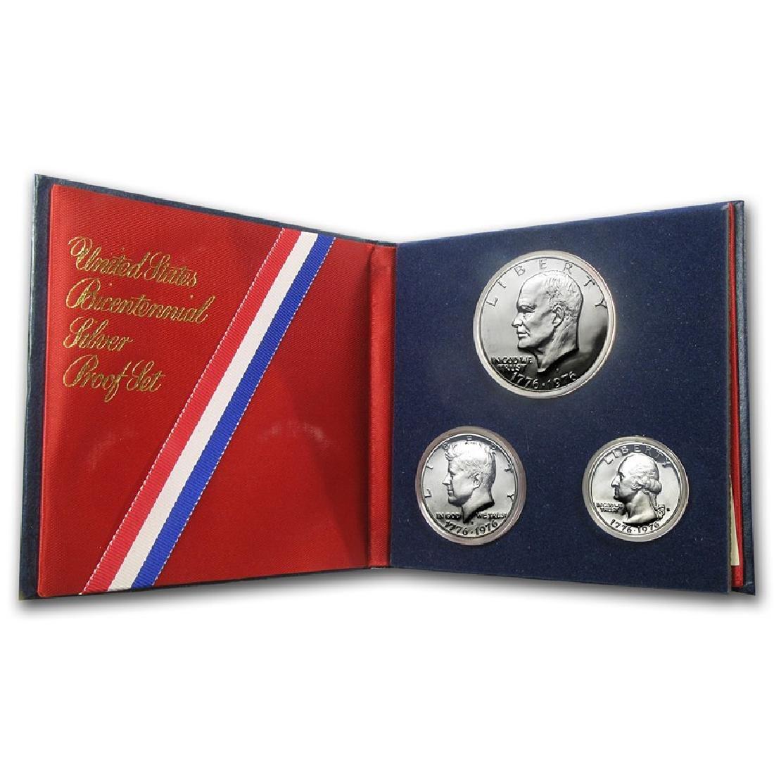 Lot of 2: 1776-1976 U.S. Bicentennial Silver Sets Proof - 3
