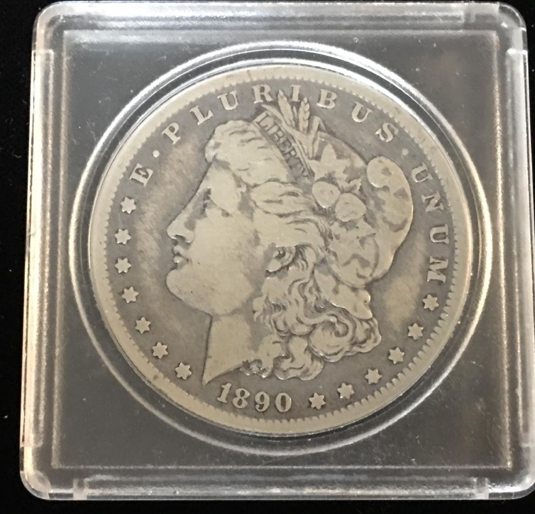 1890-O $1 Morgan Silver Dollar