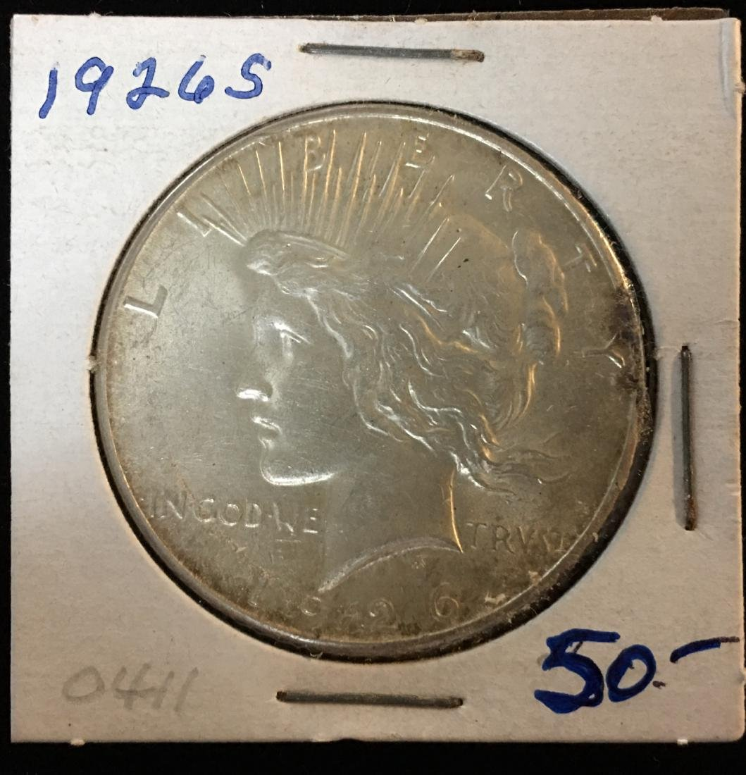 1926-S $1 Peace Silver Dollar GEM BU