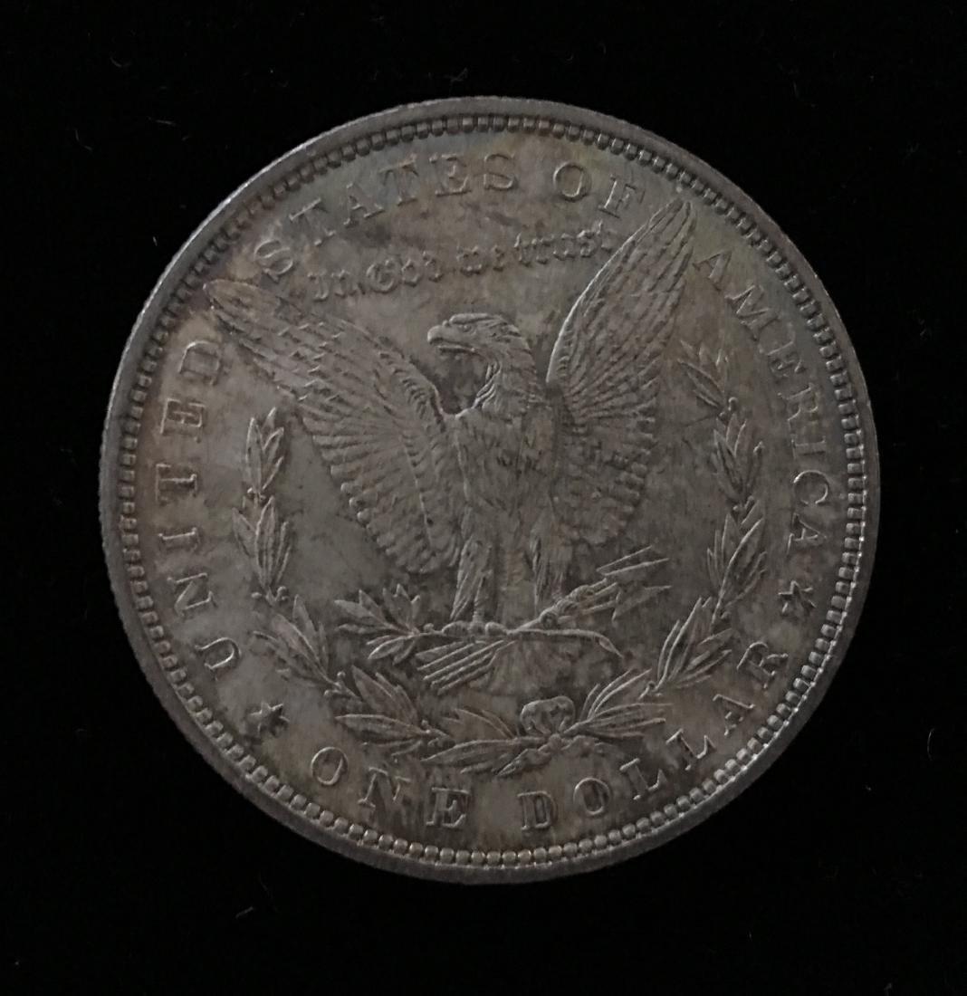 1880-P $1 Morgan Silver Dollar GEM BU Nice Rainbow - 2