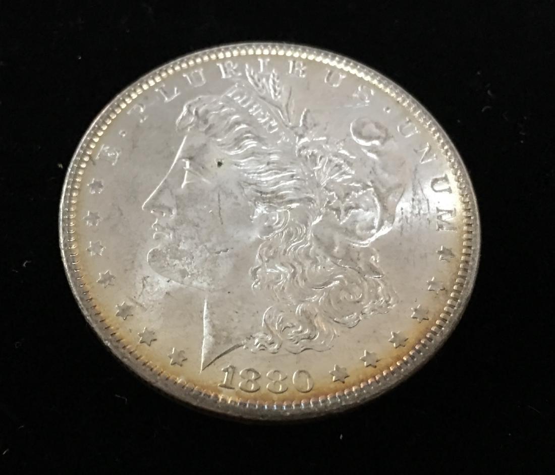 1880-P $1 Morgan Silver Dollar GEM BU Nice Rainbow - 4