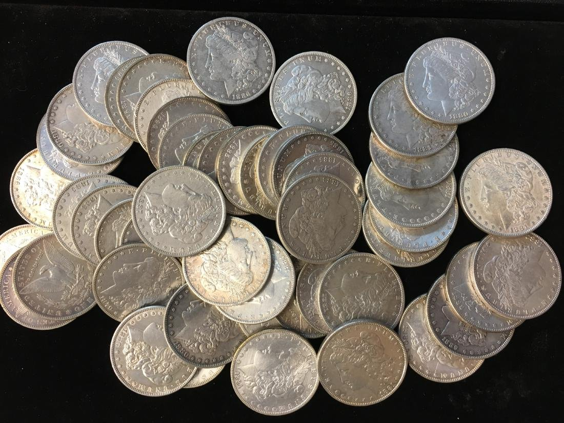 50 Mixed Morgan Dollars Pre 1921