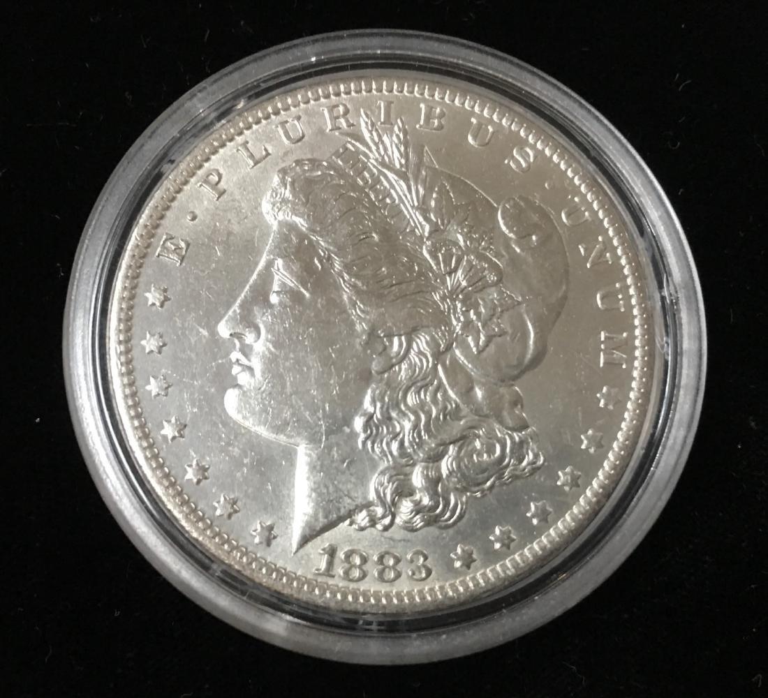 1883-O $1 Morgan Silver Dollar AU/BU