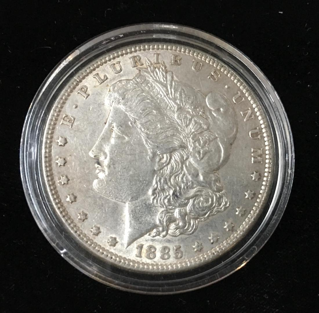 1885-P $1 Morgan Silver Dollar AU/BU