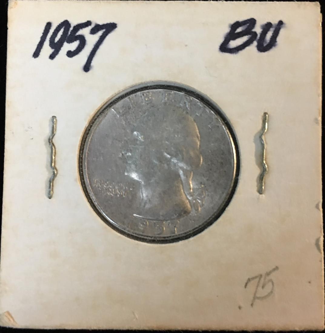 1957-P 25C Washington Silver Quarter BU