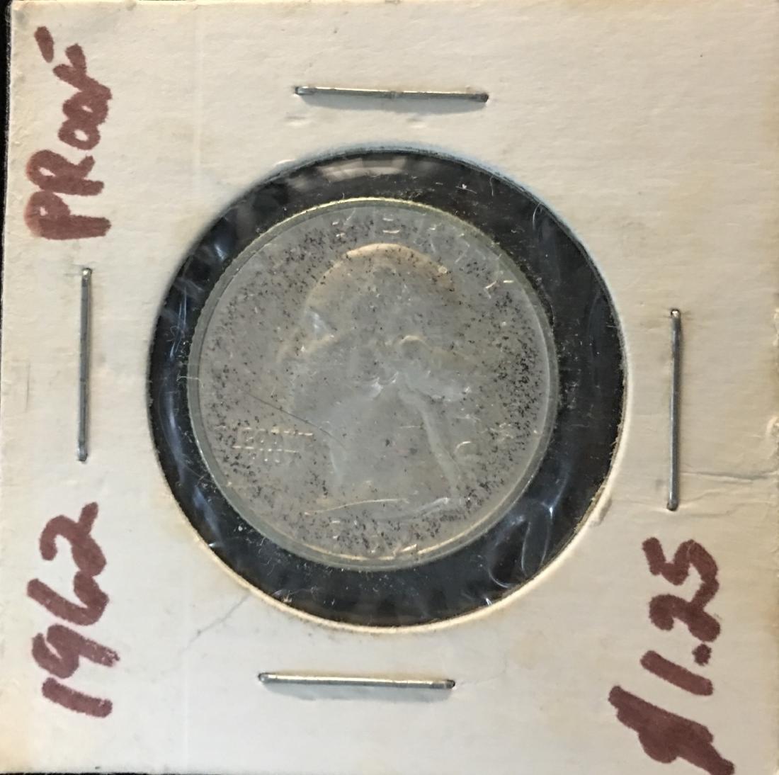 1962-P 25C Washington Silver Quarter Proof