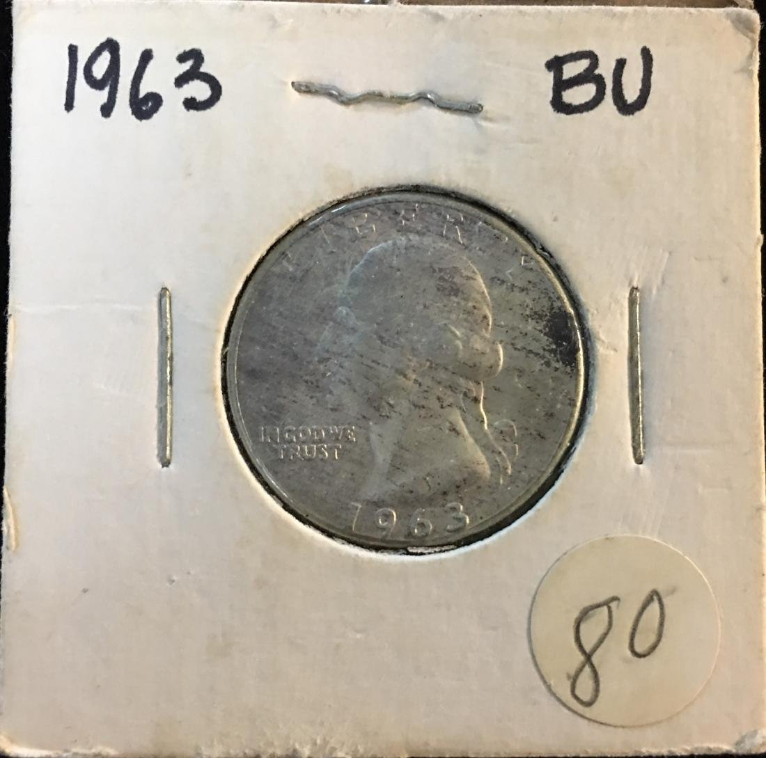 1963-P 25C Washington Silver Quarter BU