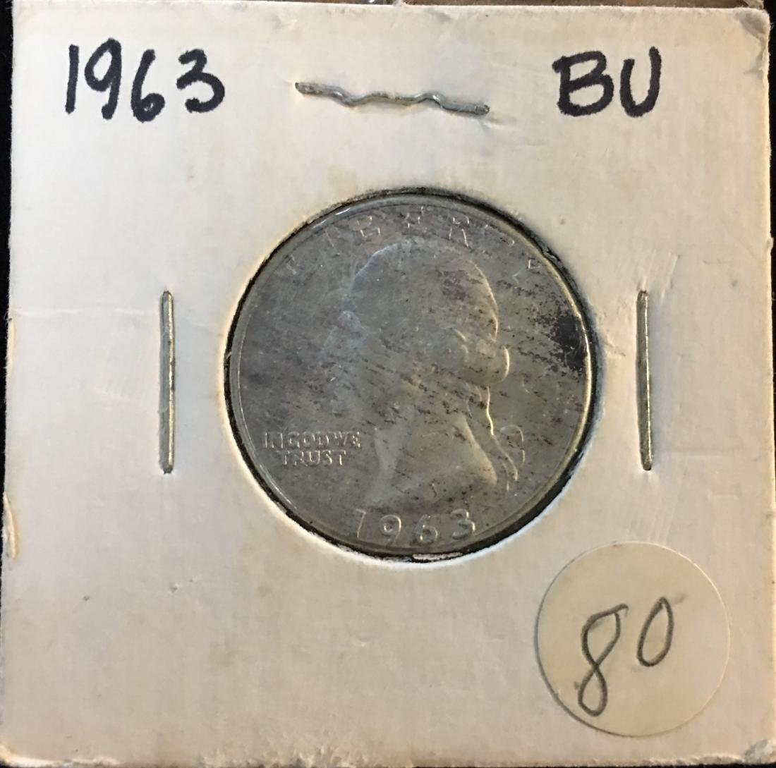 1963-P 25C Washington Silver Quarter BU