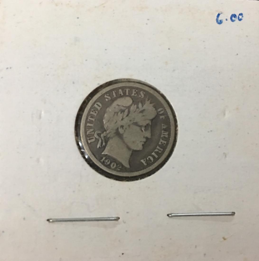 1902-P 10C Silver Barber Dime (Liberty Head)
