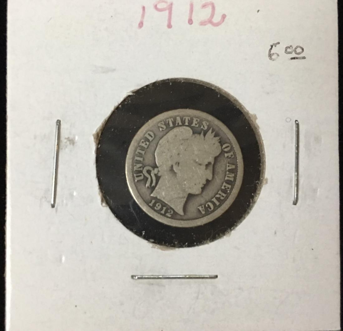 1912-P 10C Silver Barber Dime (Liberty Head)
