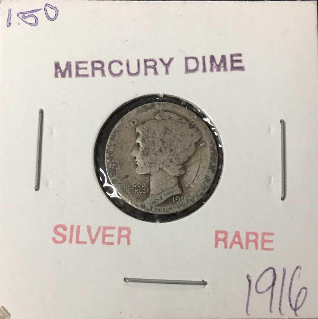 1916-P 10C Silver Mercury Dime (Winged Liberty Head)