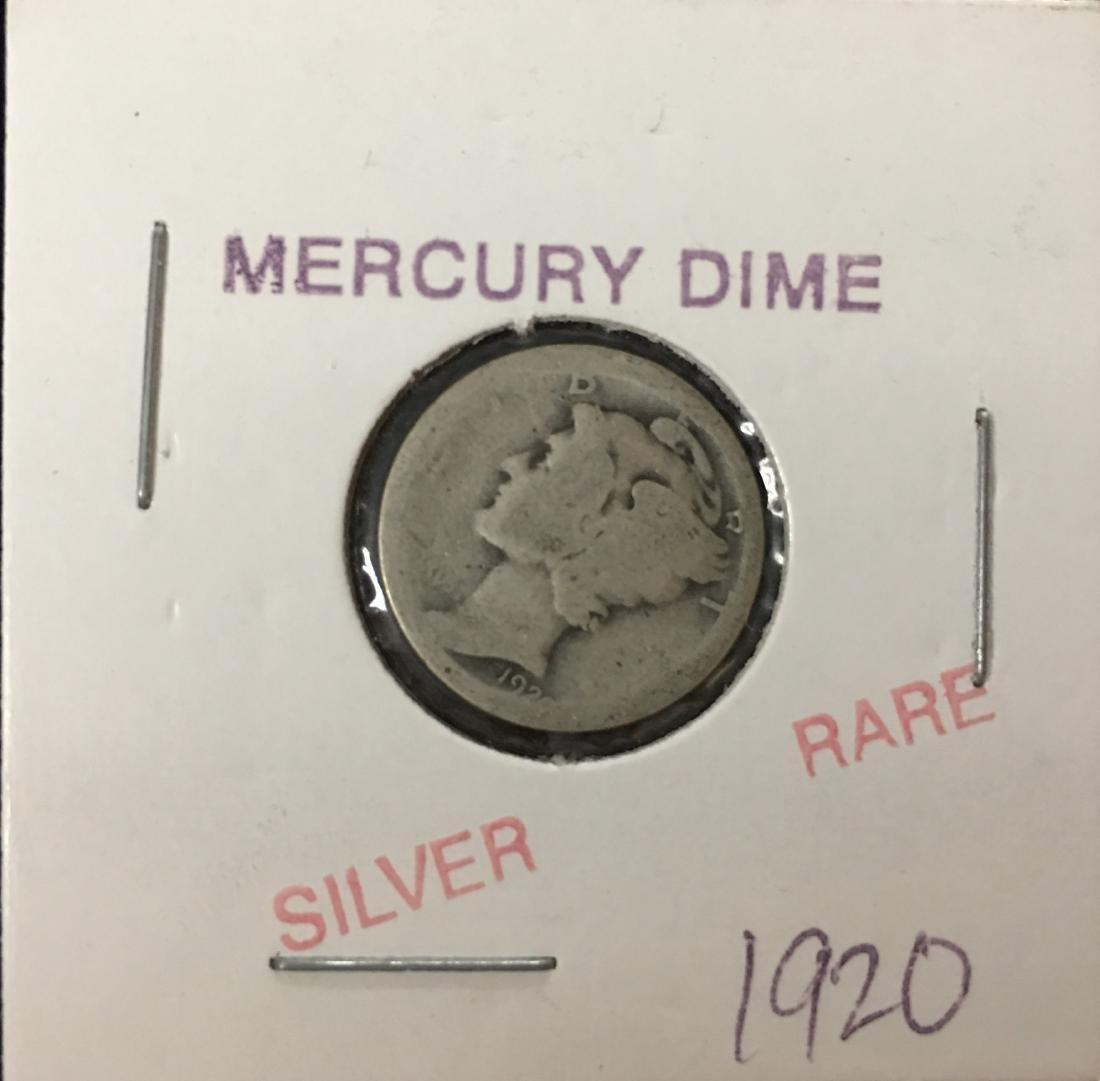 1920-P 10C Silver Mercury Dime (Winged Liberty Head)