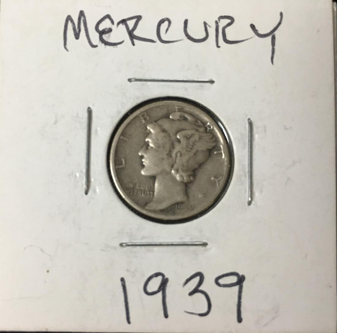 1939-P 10C Silver Mercury Dime (Winged Liberty Head)