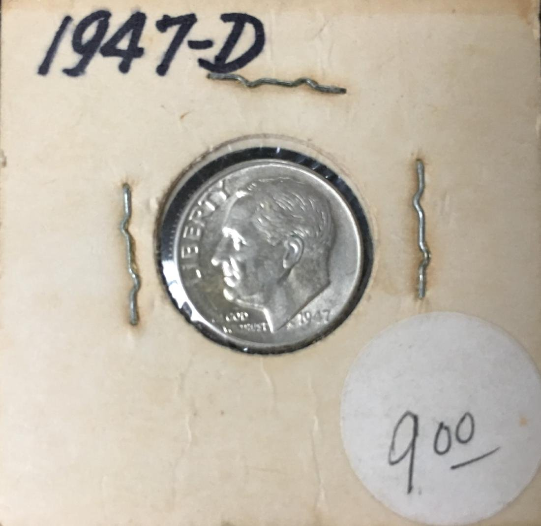 1947-PDS 10C Set of 3 Silver Roosevelt Dimes BU - 5