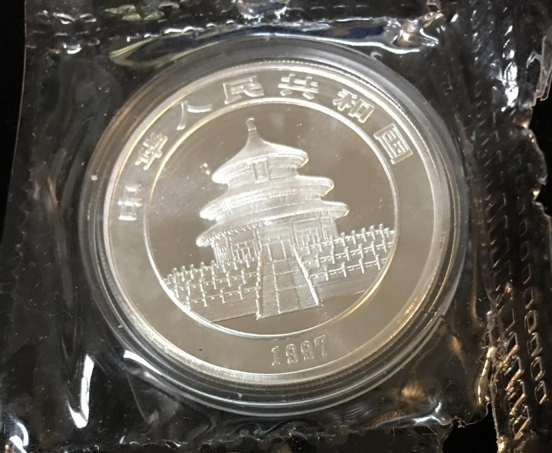 1997 China 10 Yn Panda 1 oz .999 Silver - 2