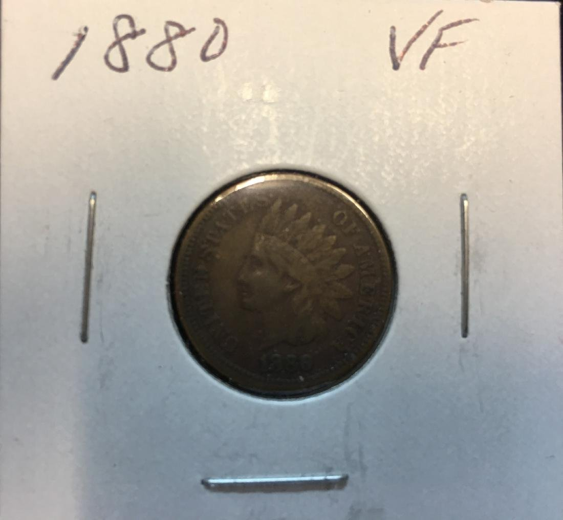 1880 1C Indian Head Cent