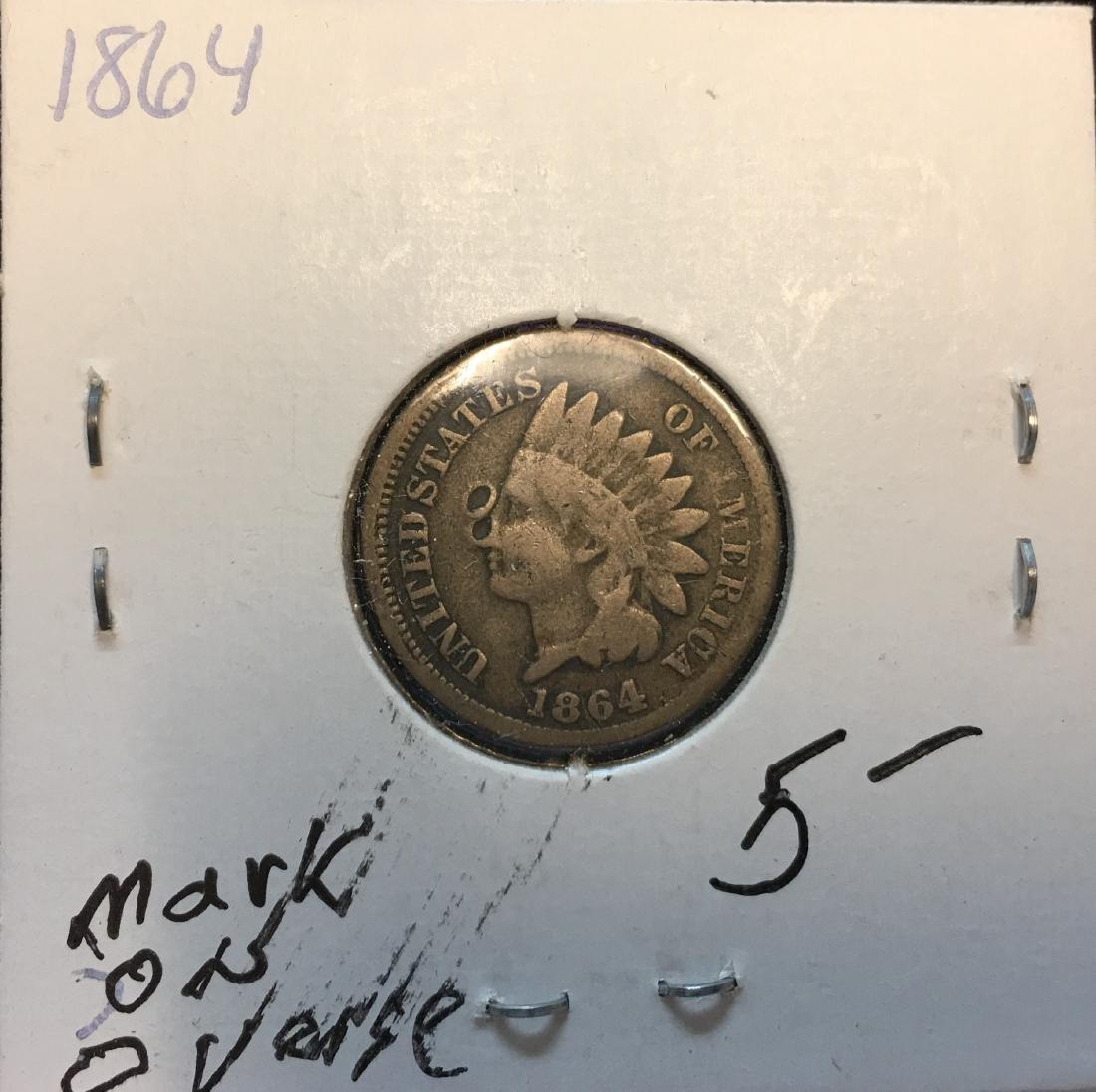 1864 1C Indian Head Cent
