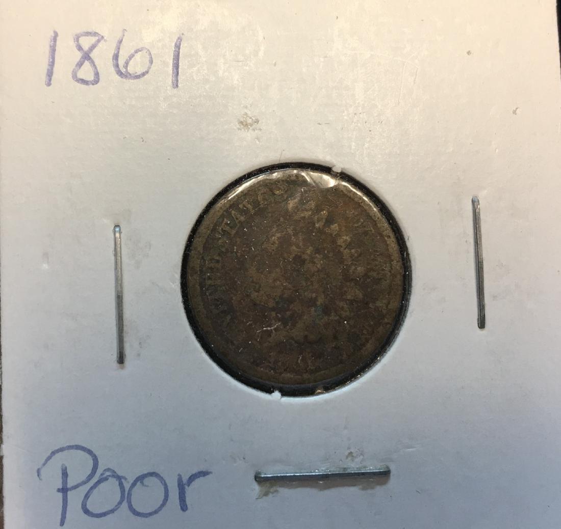 1861 1C Indian Head Cent