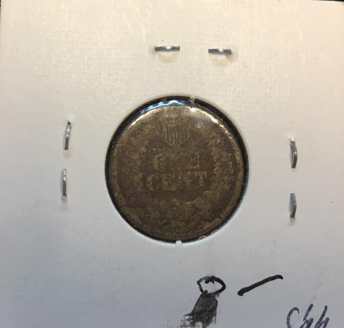 1861 1C Indian Head Cent - 2