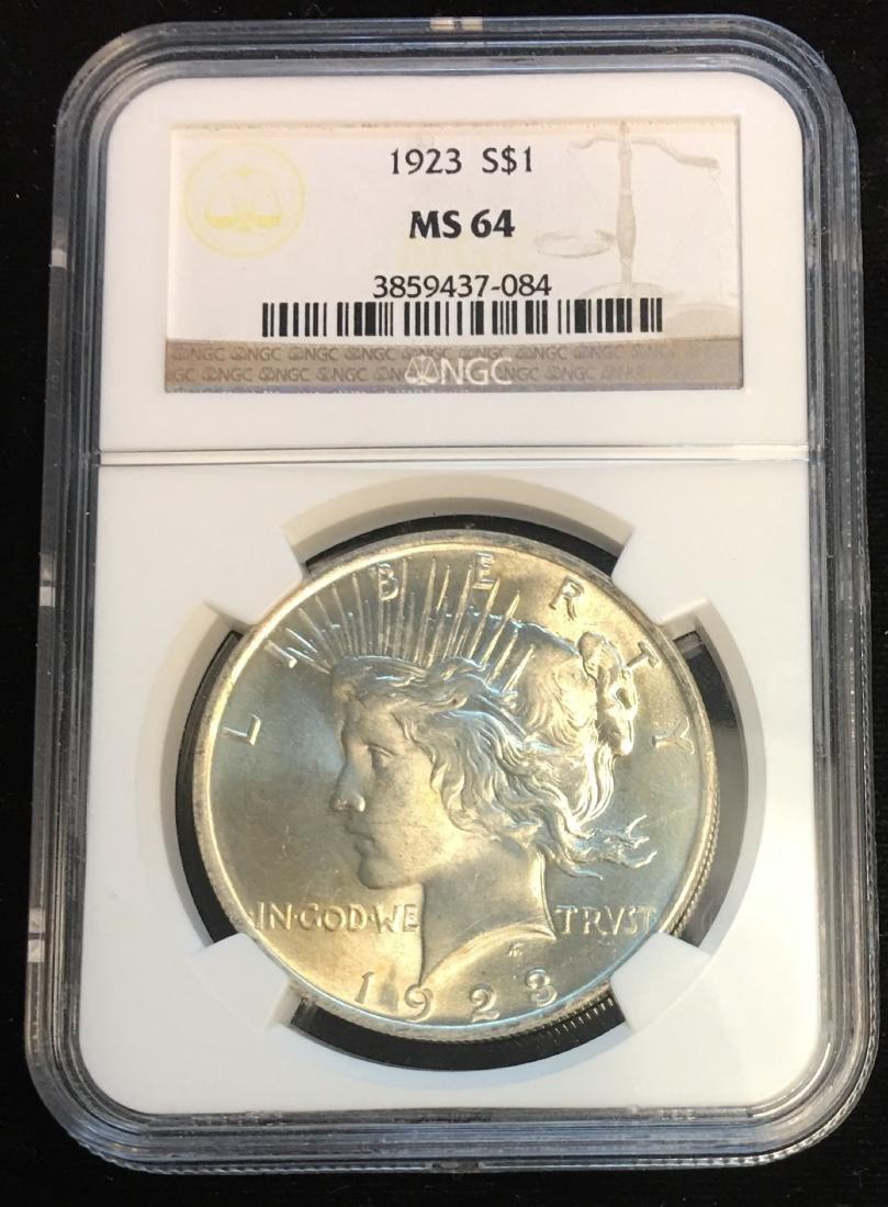 1923-P $1 Peace Dollar NGC MS64