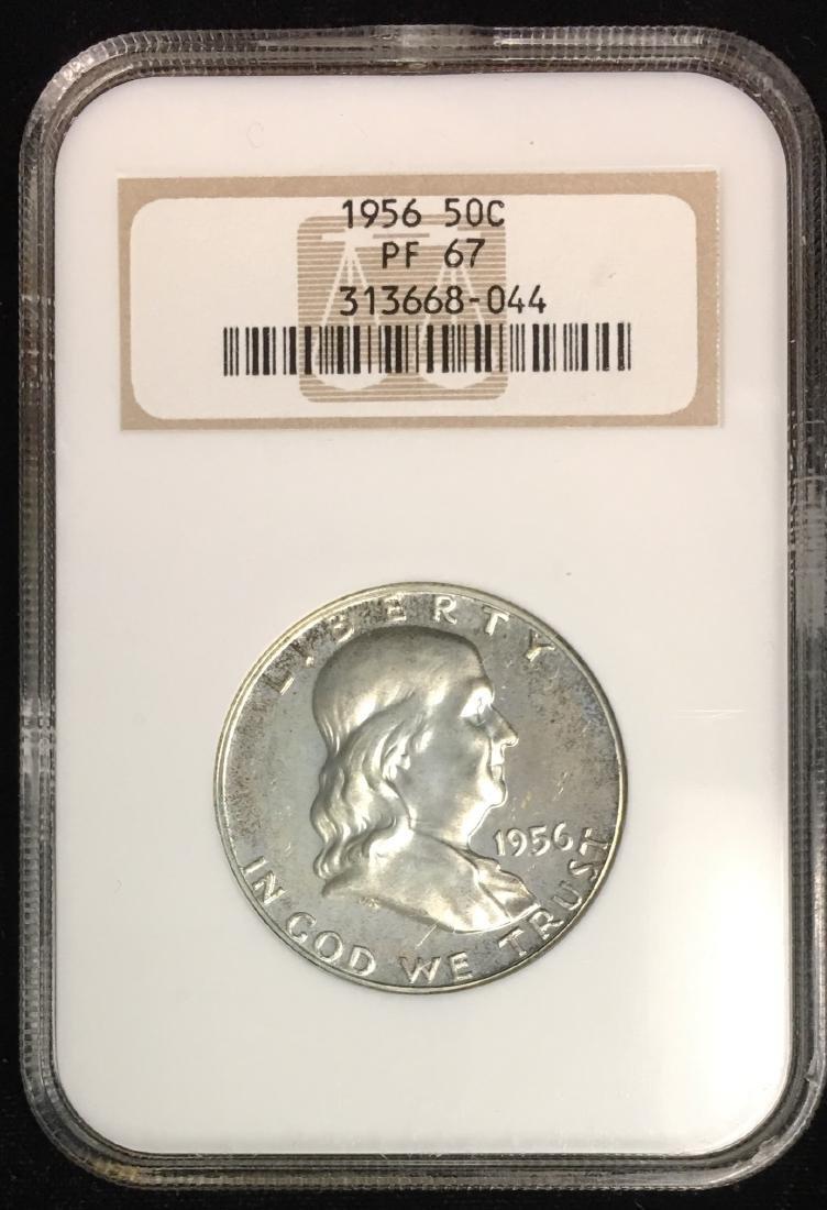 1956 50C Franklin Half Dollar NGC PF67