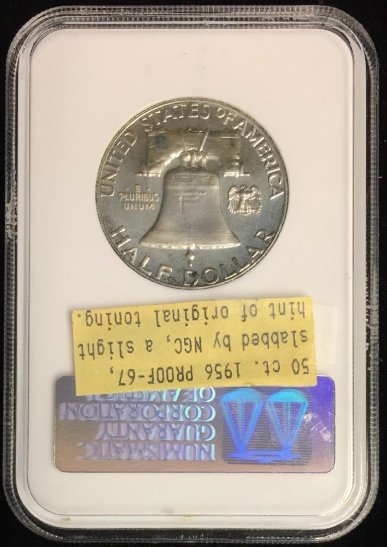 1956 50C Franklin Half Dollar NGC PF67 - 2