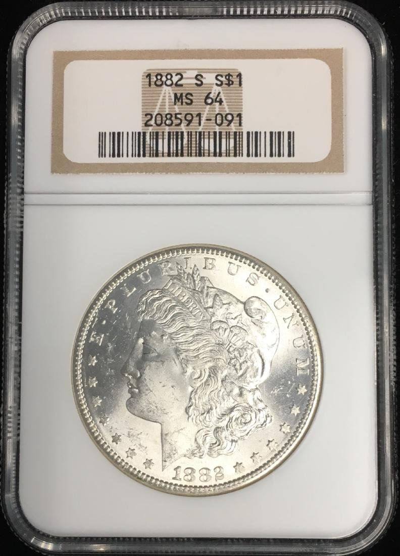 1882-S $1 Morgan Dollar NGC MS64