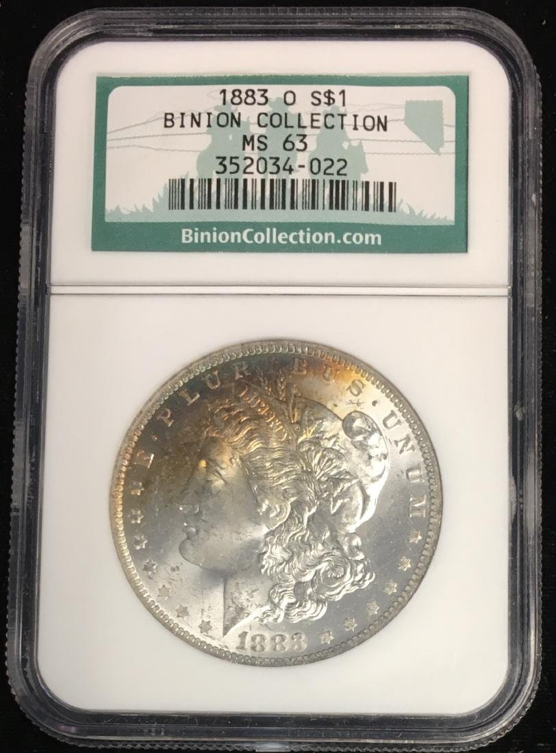 1883-O $1 Morgan Silver Dollar BINION COLLECTION NGC
