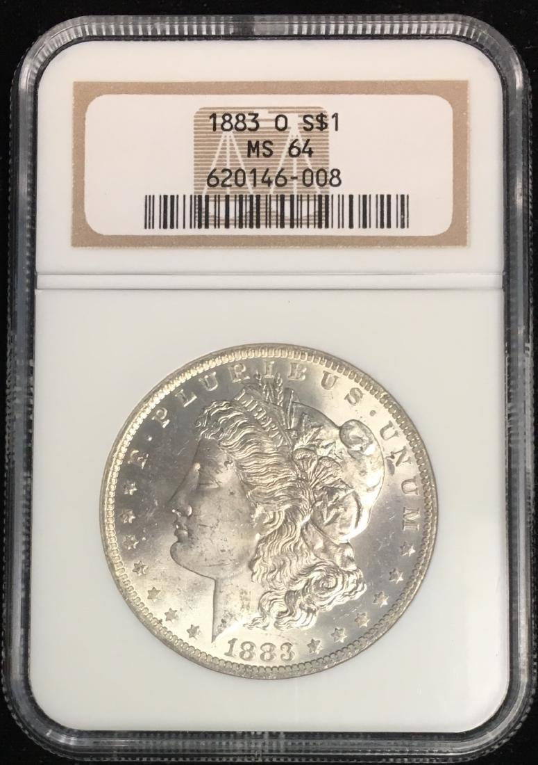 1883-O $1 Morgan Silver Dollar NGC MS64