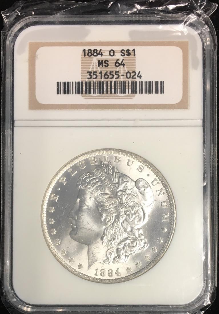 1884-O $1 Morgan Silver Dollar NGC MS64