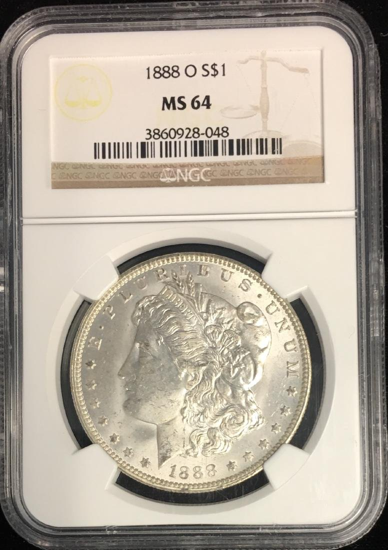 1888-O $1 Morgan Silver Dollar NGC MS64