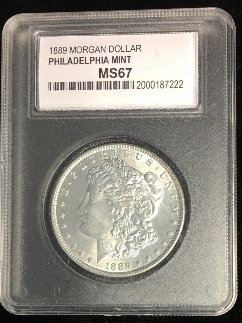 1889-P $1 Morgan Silver Dollar WCG MS67