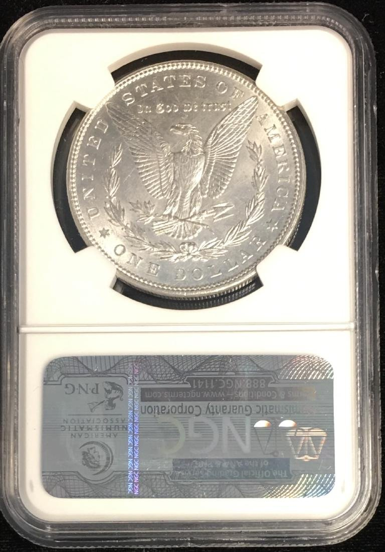 1898-P $1 Morgan Silver Dollar NGC UNC DETAILS - 2