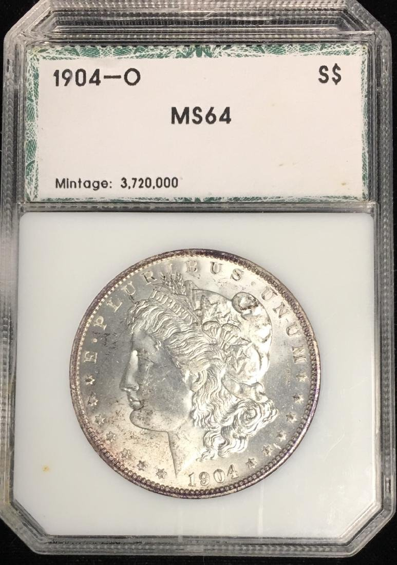 1904-O $1 Morgan Silver Dollar PCI MS64 Mintage