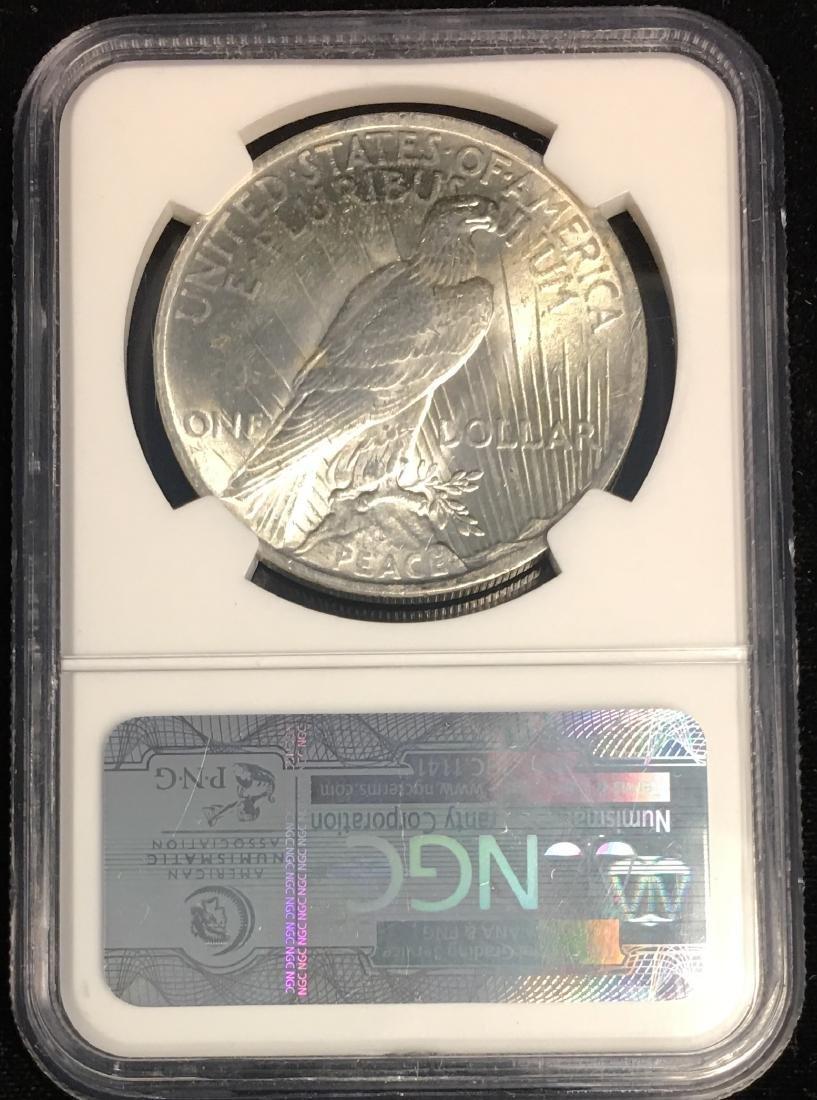 1922-P $1 Peace Silver Dollar NGC MS64 MCCLAREN - 2