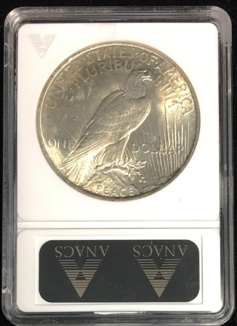 1923-P $1 Peace Silver Dollar ANACS MS62 - 2