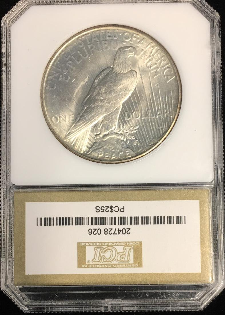 1925-P $1 Peace Silver Dollar PCI MS63 Mintage - 2