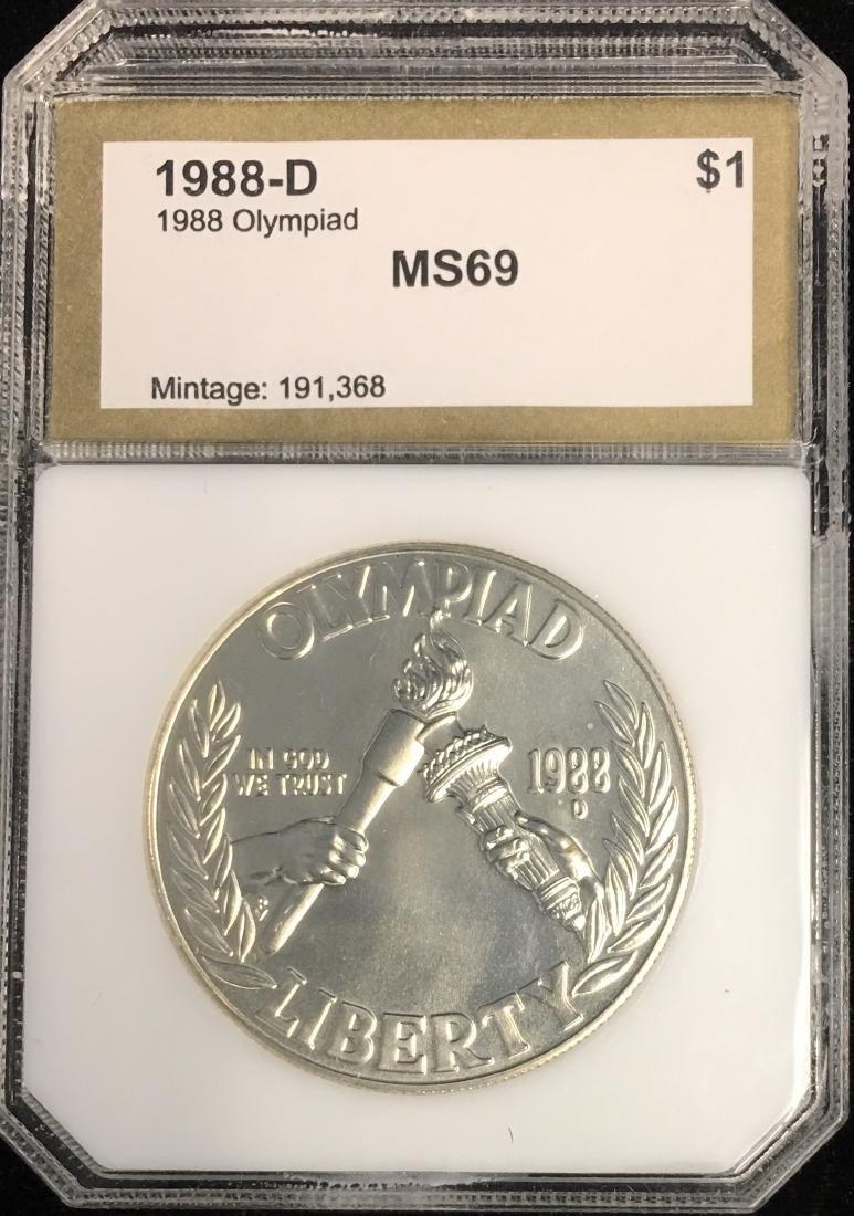 1988-D $1 Seoul Olympiad Commemorative Silver Dollar