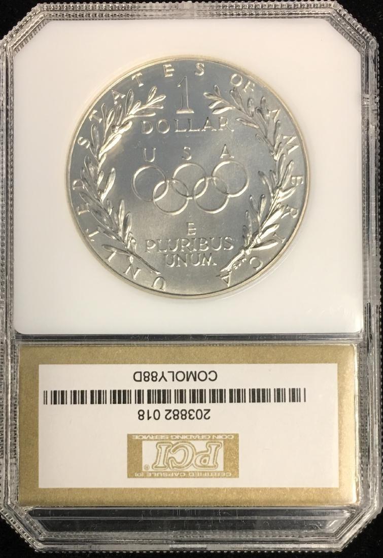 1988-D $1 Seoul Olympiad Commemorative Silver Dollar - 2