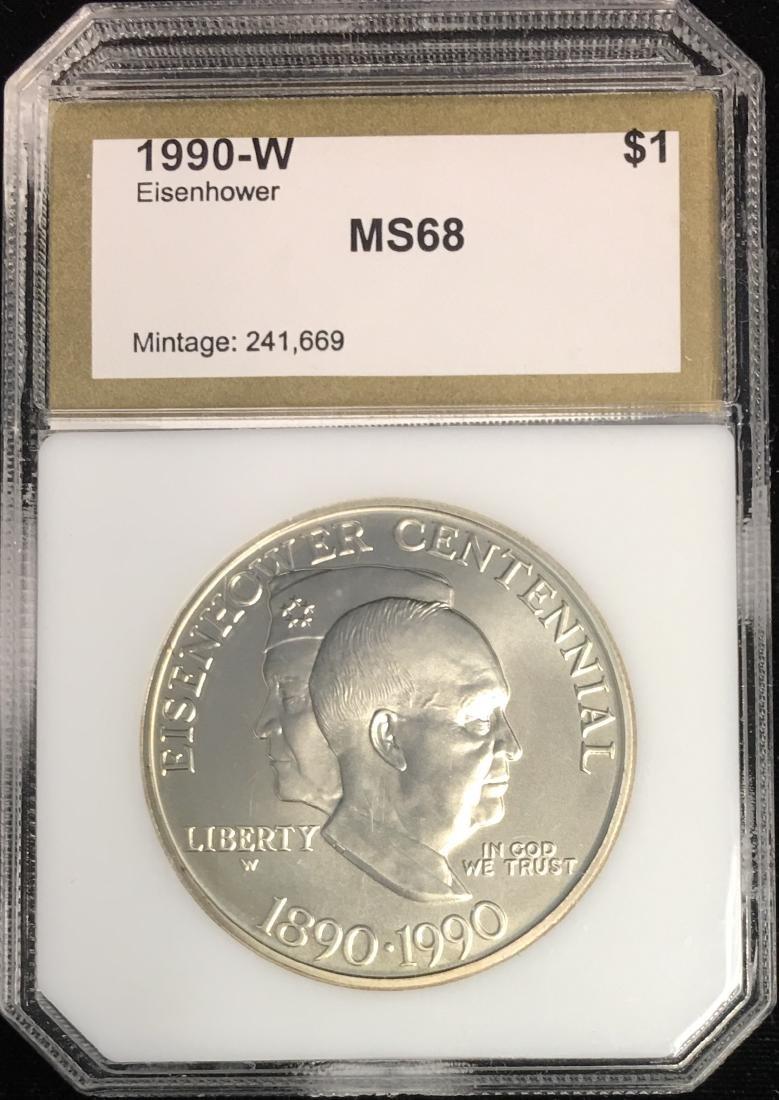 1990-W $1 Eisenhower Centennial Modern Commemorative