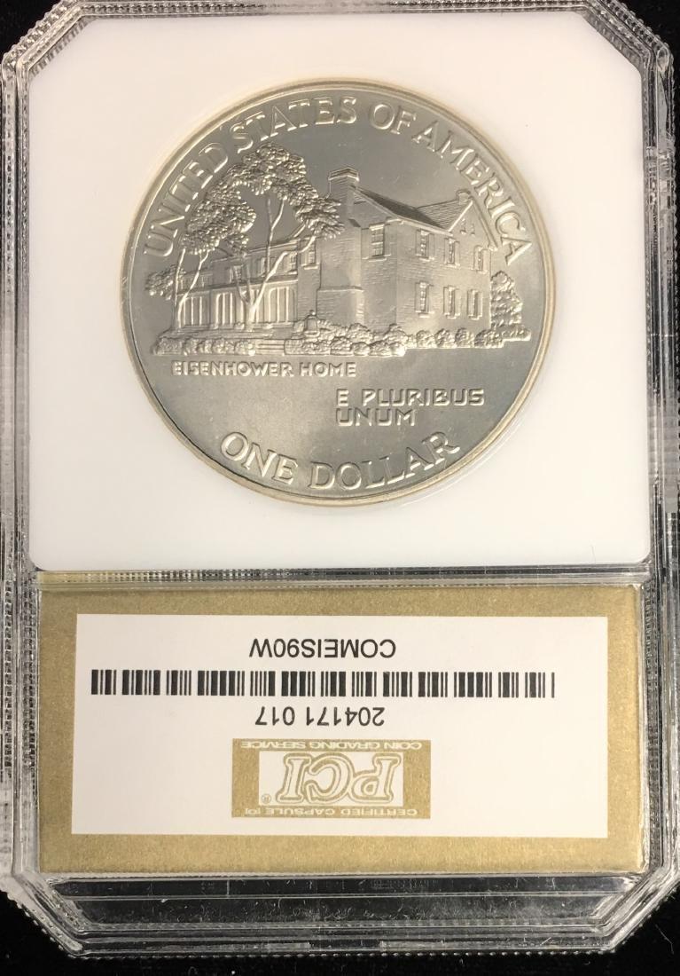 1990-W $1 Eisenhower Centennial Modern Commemorative - 2