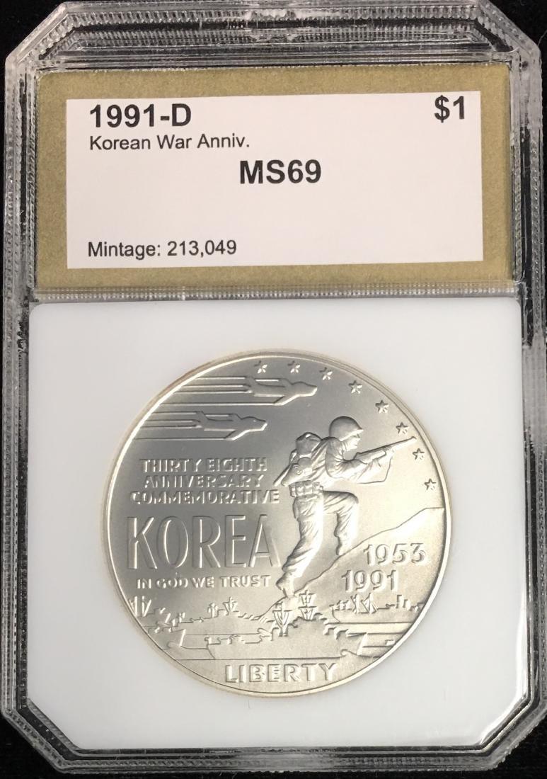 1991-D $1 Korean War Memorial Modern Commemorative