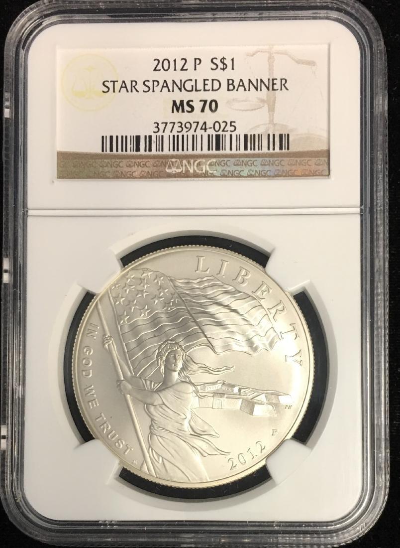 2012-P $1 Star Spangled Banner Modern Commemorative