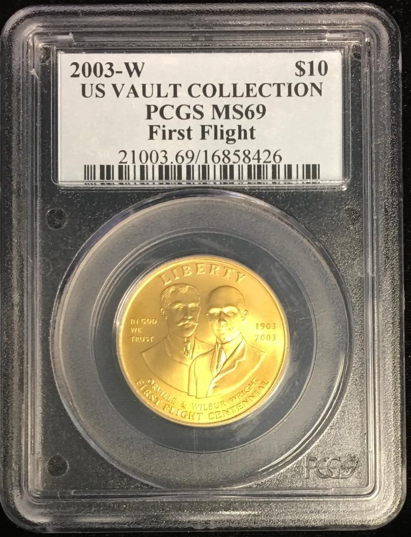 2003-W $10 First Flight Centennial U.S. Vault