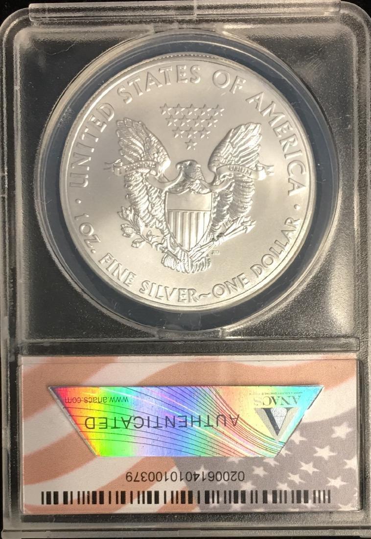2012 $1 American Silver Eagle ANACS MS70 - 2