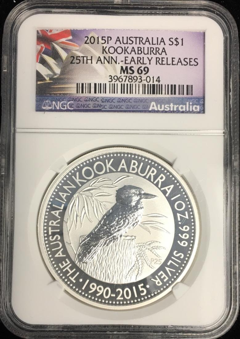 2015-P $1 Australia Kookaburra 25th Anniv. Early