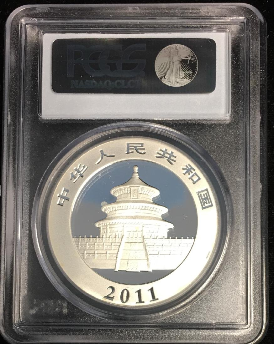 2011 10Yn China People's Republic Silver Panda PCGS - 2