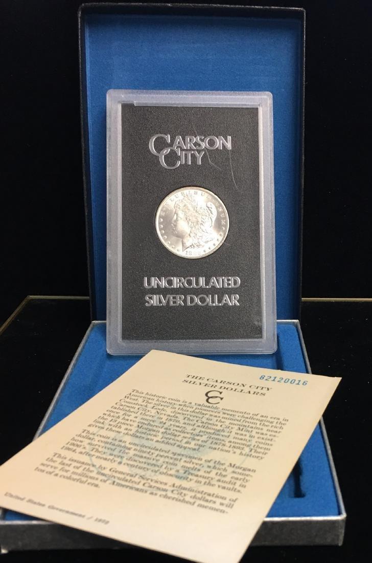 1882-CC $1 Morgan Silver Dollar GEM BU with COA and Box