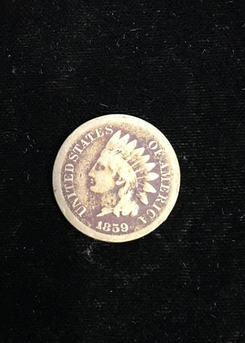 1859 1C Indian Head Cent Good