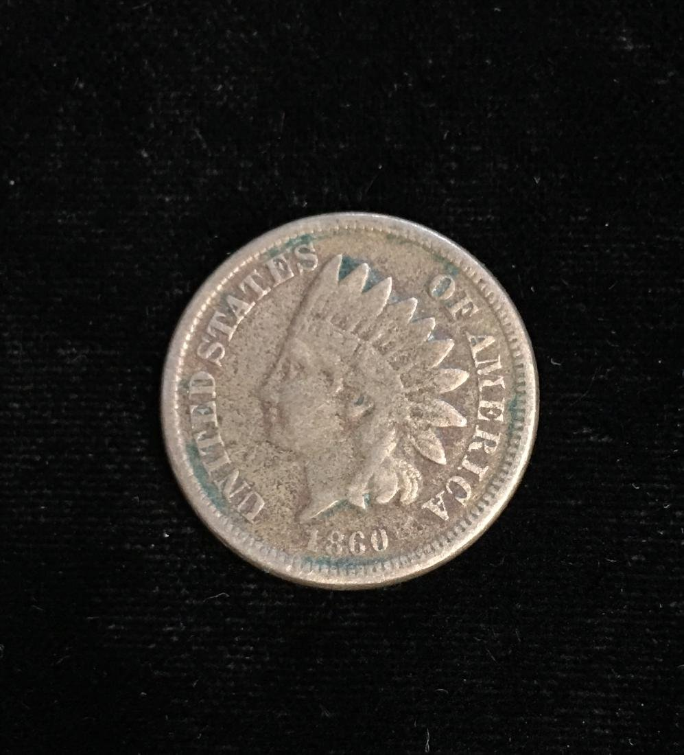 1860 1C Indian Head Cent VG